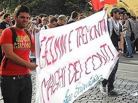 Миланские студенты протестуют против сокращения финансирования образования