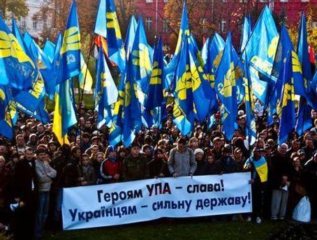 В Киеве около 2,5 тысяч человек празднуют годовщину УПА