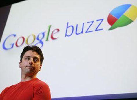 Сергей Брин на презентации Google Buzz в 2010 году