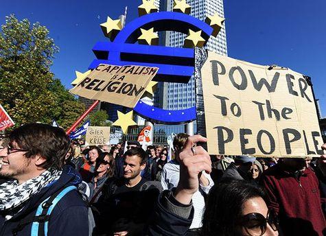 На вулиці Франкфурта вийшли активісти проти