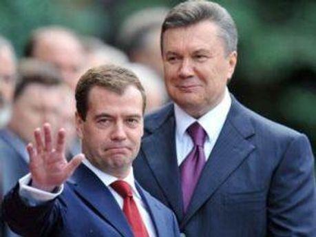 Віктор Янукович та Дмитро Медведєв