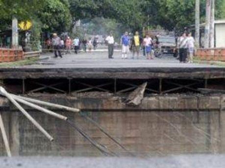Разрушенный мост в Сальвадоре