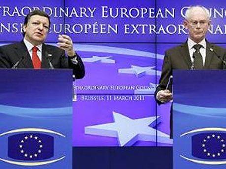 Председатель Европейского совета Херман ван Ромпей и председатель Европейской комиссии Жозе Мануэл Баррозу