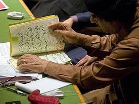 Каддафи оставил три копии завещания