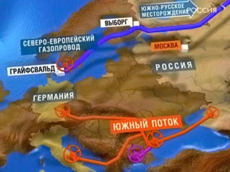 Схема прокладання газопроводу