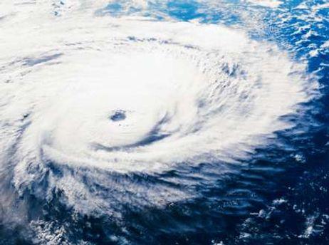 Скорость порывов ветра в зоне урагана достигает 120 км в час