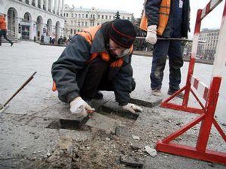 Грузинова обвиняли в повреждении гранитной плитки на Майдане Незалежности