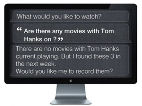 Возможный интерфейс Siri на телевизорах Apple