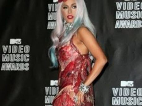 Леді Гага в сукні з яловичини