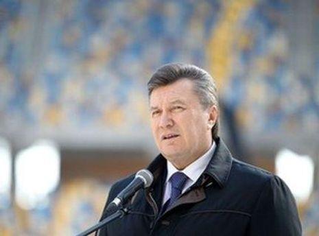 Янукович передумал открывать стадион