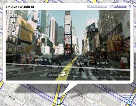 Google расширяет функции сервиса Street View