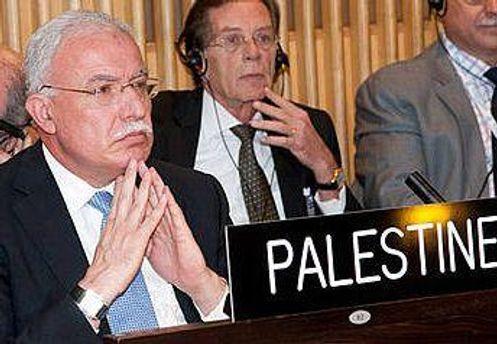 Представители Палестины на заседании ЮНЕСКО