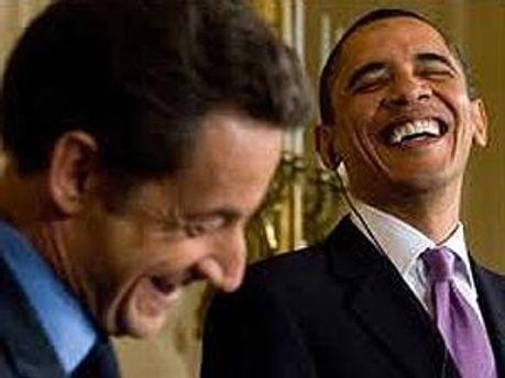Ніколя Саркозі та Барак Обама