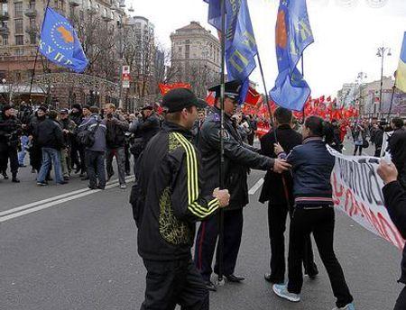 Минулого року на Хрещатику комуністи побились із представниками КУПР