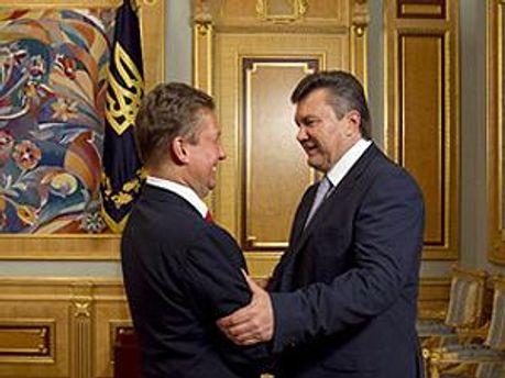 Алексей Миллер и Виктор Янукович
