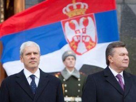 Президент Сербии Борис Тадич и президент Украины Виктор Янукович