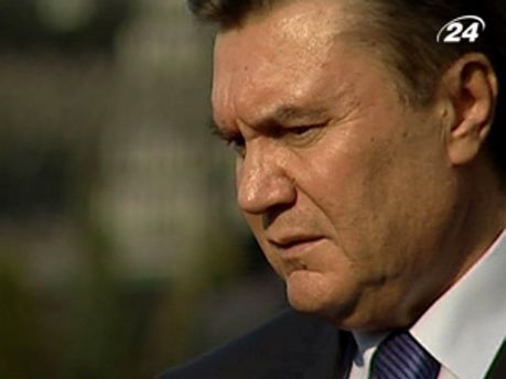 Янукович ждет хорошую погоду