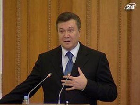 Янукович говорит, что борьба с коррупцией вызывает сопротивление виновных чиновников
