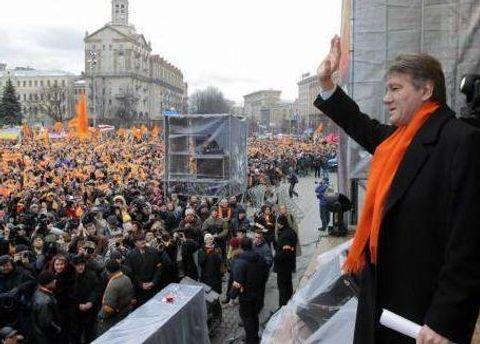 Ющенко зазначає, що автором Помаранчевої революції був український народ