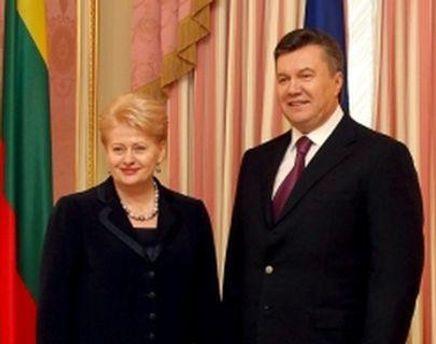 Грибаускайте и Янукович будут говорить о евроинтеграции Украины
