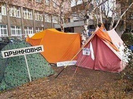 Палатки не покинут, что бы ни было