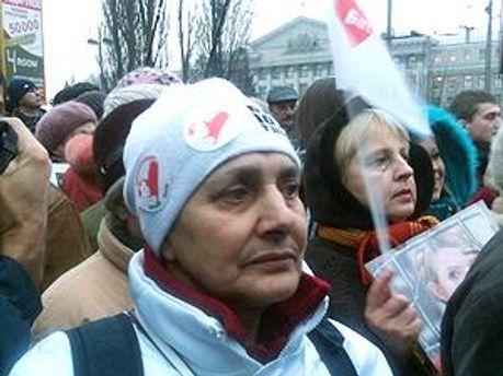 Сторонники Тимошенко возле Апелляционного суда Киева