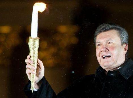 Янукович праздновал в президентской резиденции