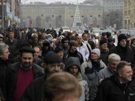 Мітинг не зібрав багато людей