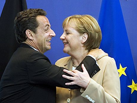 Ніколя Саркозі та Ангела Меркель
