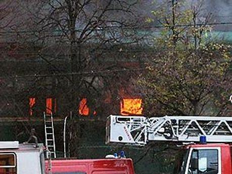 После взрыва начался пожар