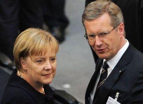 Ангела Меркель и Кристиан Вульф