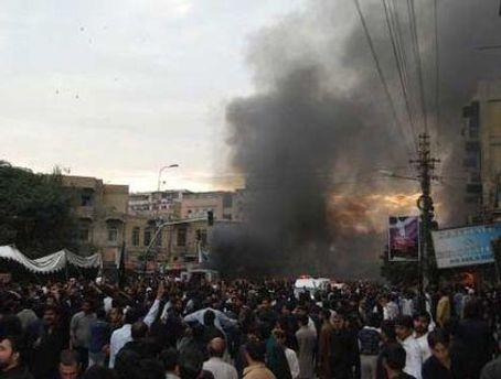 Взрыв произошел на пути похоронной процессии