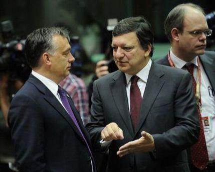 Виктор Орбан и Жозе Мануэль Баррозу