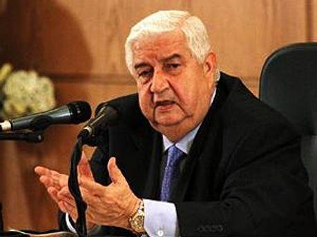 Міністр закордонних справ Сирії Валід Муаллем
