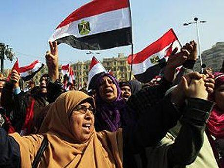 Демонстранты на площади Тахрир