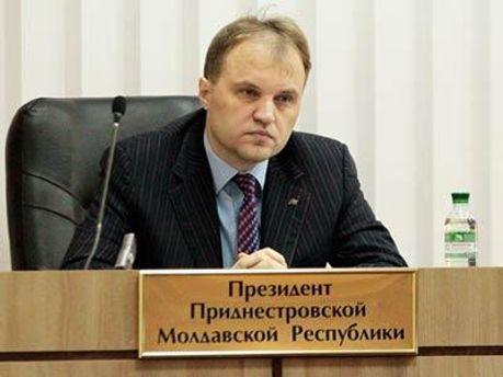 Шевчук стал президентом Приднестровья в конце декабря