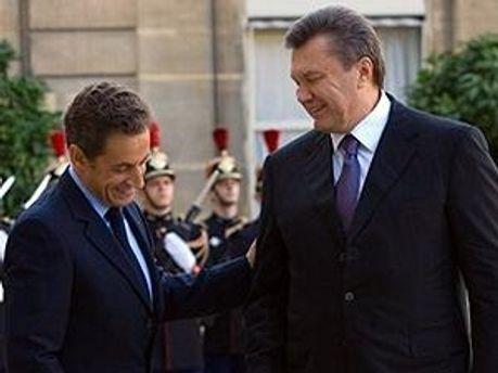 Николя Саркози и Виктор Янукович