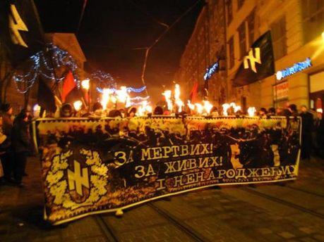 Націоналісти вшанували героїв Крут ходою по Києву