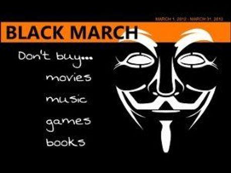 Протестуют против законов SOPA и PIPA