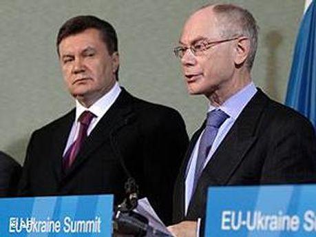Віктор Янукович і Герман Ван Ромпей
