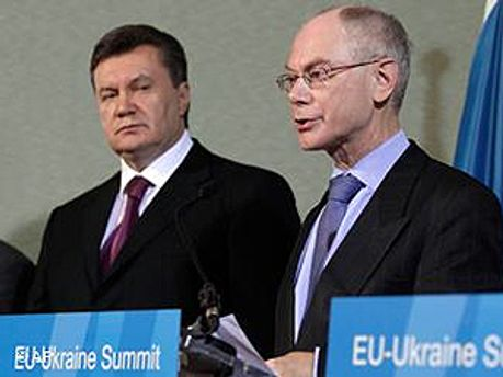 Виктор Янукович и Герман Ван Ромпей