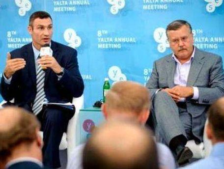 Віталій Кличко та Анатолій Гриценко