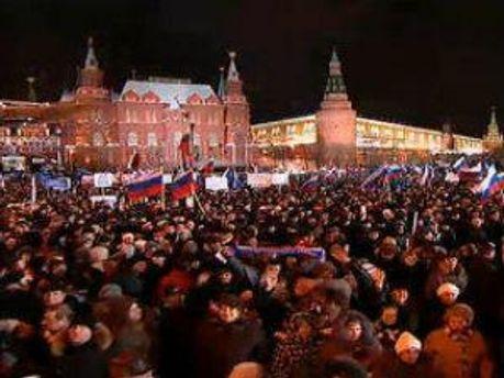 Сторонники Путина собрались на митинг
