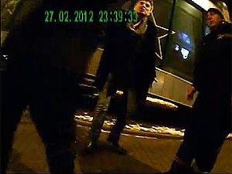 Кадр с видеозаписи