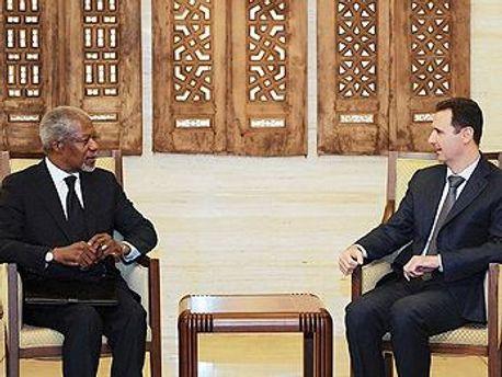 Кофі Аннан і Башар Асад