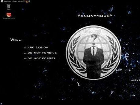 Новая операционная система оформлена символикой Anonymous