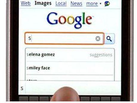 Google на мобільному телефоні