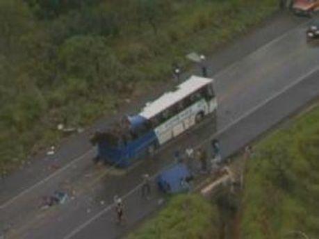 Автобус на месте аварии