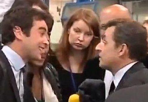 Саркози не понравился вопрос журналиста
