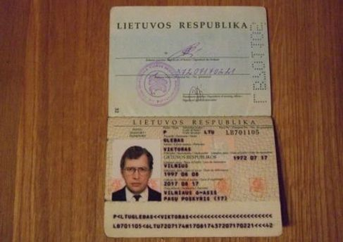 Фальшивий литовський паспорт Мавроді